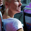 Tourist in a tourist bus — Stock Photo
