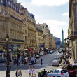 Street to the square of Bastille, Place de la Bastille, Paris, France - Stock Photo