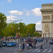 Champs des Elysees, Paris France — Stock Photo