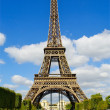 Eiffel tower, full size, Paris, France — Stock Photo
