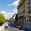 Stock Photo: Street near Seine