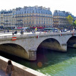 Stock Photo: Small bridge in Paris, France