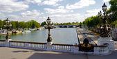 橋のアレクサンドル 3 世、パリ、フランス — ストック写真