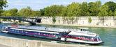 Tourist boat in Paris — Stock Photo