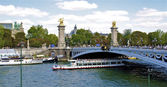 Paris, Bridge over Seine — Stock Photo