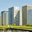 Stock Photo: Panoramic view of business buildings in Paris