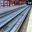 Railways at the station — Stock Photo