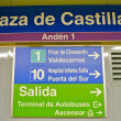 Sign of the metro station Plaza de Castilla — Foto de Stock