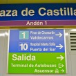 Sign of the metro station Plaza de Castilla — Stockfoto