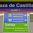 Sign of the metro station Plaza de Castilla — Stock Photo