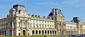 Panoramic view of the Louvre museum, Paris, France — Stock Photo