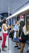 マドリードの地下鉄で — ストック写真