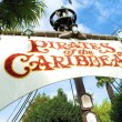 Stock Photo: Pirates of Caribbewhite sign