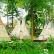 Three wigwams — Stock Photo