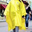 Stock Photo: Girl in yellow coat
