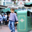 Stock Photo: Boy plays in Disneyland