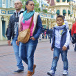 Stock Photo: Family walks in Disneyland