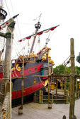 Back part of the pirate ship — Stock Photo