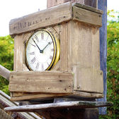 Old fashion clock — Stock Photo