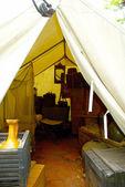 Decorative camp view — Stock Photo