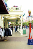 Main street side of Disney land — Stock Photo