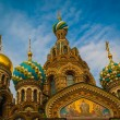 Top of the Cathedral of the Savior on Spilled Blood, Saint Peter — Stock Photo