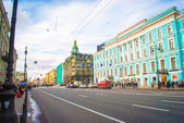Avenue Nevskiy in Saint Petersburg, Russia — Stock Photo