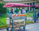 Hot dog kiosk — Stock Photo