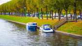 River in autumn in Saint Petersburg — Stock Photo