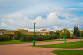 Walking garden in Saint Petersburg — Stock Photo