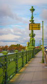 Lamp post on the bridge in Saint Petersburg, Russia — Stock Photo