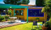 Patio de la casa en méxico — Foto de Stock