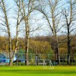 Football field in the village — Stock Photo