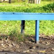 Blue bench — Foto de Stock