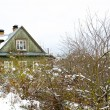 Old fashion Russian house on the mountain hill — Stock Photo