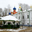 Stock Photo: Square in Pskovo-Pechersky Monastery, Pechory, Russia
