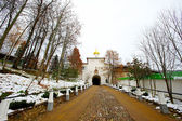 Orthodox church in Pechory in Russia — Foto Stock