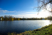 Panoramic view of the coast in a Russian town — Stock Photo