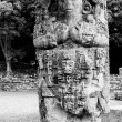 Mayan Stelae, an emblematic symbol of the Honduran Mayan civilization at Co — Stock Photo