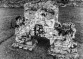 Emblematic symbol of the Honduran Mayan civilization at Copan — Stock Photo