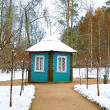 Small decorative house in n Mikhaylovskoye Museum Reserve where  — Stock Photo