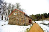 Museo de piedra roja en museo mijailovka reserva en ruso — Foto de Stock
