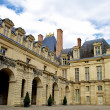 Part of the Castle Fontainebleau in France - Stock Photo