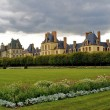 Panoramic view of the Castle Fontainebleau and its garden — Stock Photo #14665031