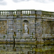 Architecture of the pond of the the Castle Fontainebleau — Stock Photo