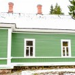 Green house in the village Mihaylovskoe in winter — Stock Photo #14736619