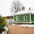 Green house in the village Mihaylovskoe in winter — Stock Photo #14736637