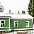Green house in the village Mihaylovskoe in winter — Stock Photo