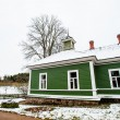 Green house in the village Mihaylovskoe in winter — Stock Photo #14736669