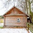 Old fashion Russian house in winter — Stock Photo